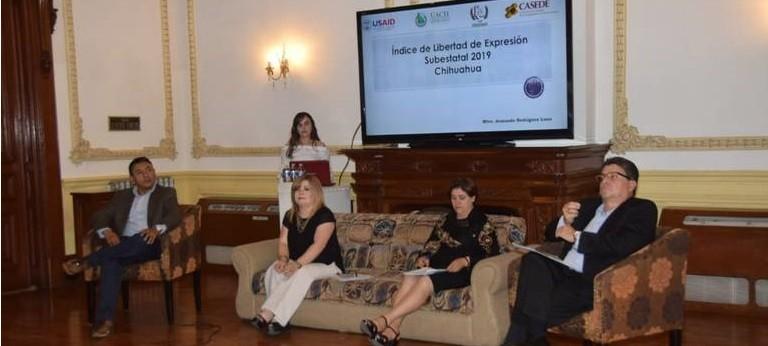 Presentación del Índice Estatal de Libertad de Expresión 2019 ChihuahuaExpresion