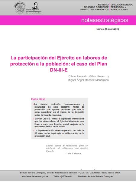 La participación del Ejército en labores de protección a la población: el caso del Plan DN-III-E