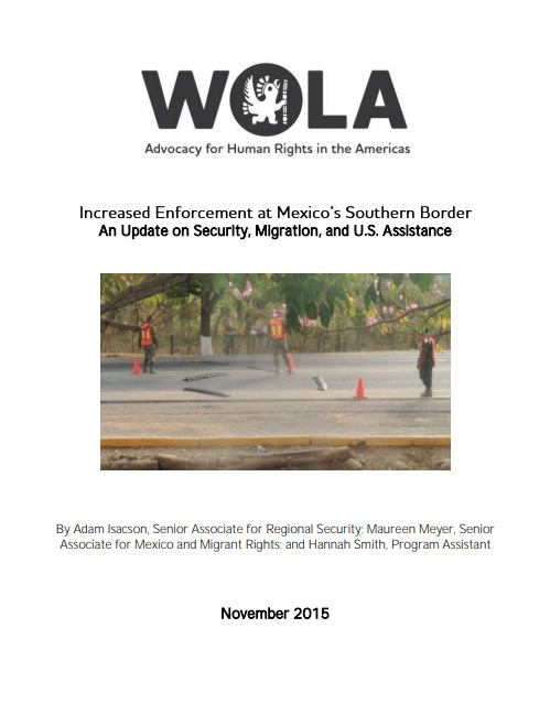 El control aumentado en la frontera sur de México. Una actualización sobre la seguridad, la migración y el apoyo de EE.UU.