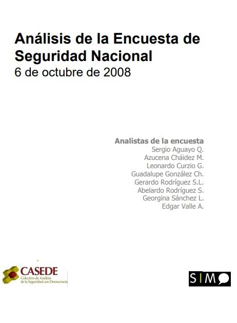 Análisis de la Encuesta de Seguridad Nacional, octubre, 2008