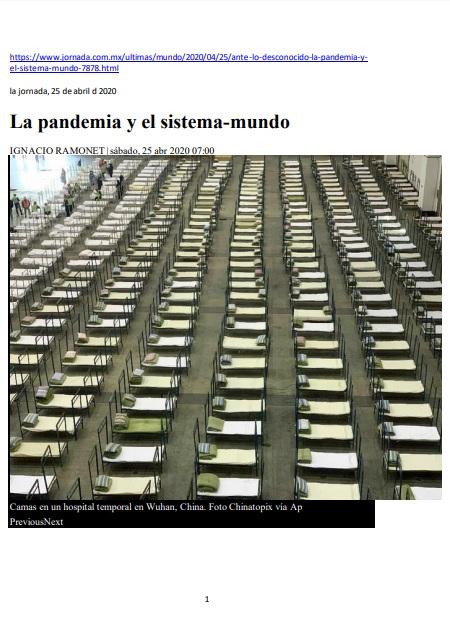 La pandemia y el sistema-mundo