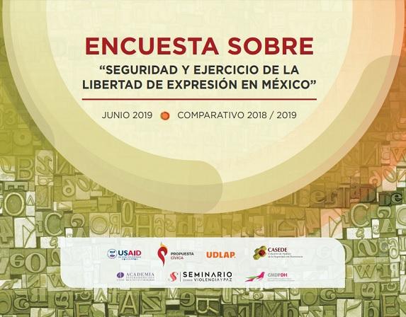 Encuesta sobre seguridad y ejercicio de la libertad de expresión en México: Comparativo 2018 / 2019
