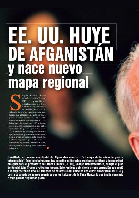 EE. UU. Huye de Afganistány nace nuevomapa regional