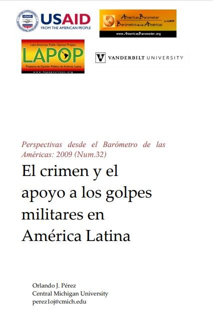 El crimen y el apoyo a los golpes militares en América Latina