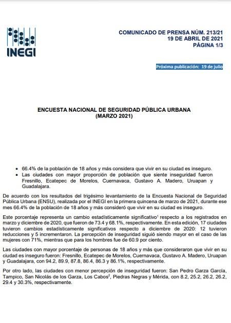 Encuesta nacional de seguridad pública urbana(Marzo2021)
