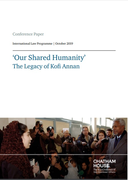 'Our Shared Humanity' The Legacy of Kofi Annan