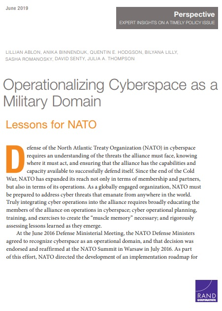 Operationalizing Cyberspace as a Military Domain