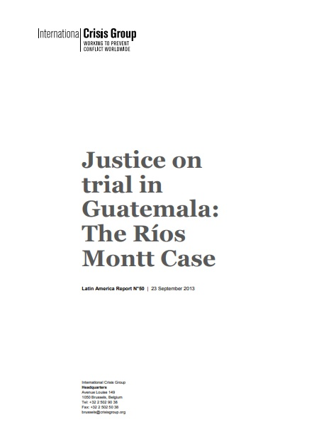 Justice on trial in Guatemala: The Ríos Montt Case