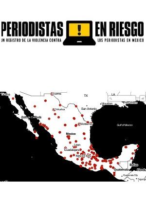 Mapa de periodistas en riesgo